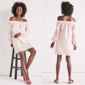 Lucky Brand Pink Off Shoulder Spring Dress